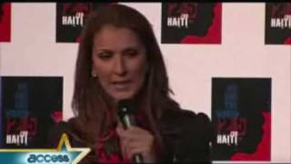 Celine Dion talks about We Are The World 25 For Haiti (@ Access Hollywood)
