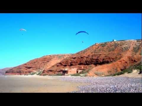 Paragliding in Morocco Lgzira beach near Sidi Ifni December 4, 2012
