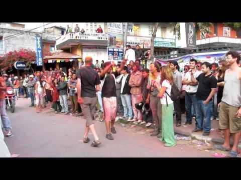 Dancing at Holi