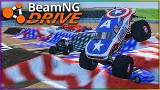 STAR SPANGLED MANGLE! | BeamNG Drive | Monster Trucks