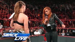 Relive Becky Lynch's WrestleMania challenge to Ronda Rousey: SmackDown LIVE, Jan. 29, 2019