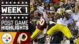 Steelers vs. Redskins | NFL Week 1 Game Highlights
