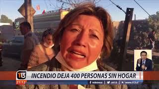 Incendio deja 400 damnificados en Calama