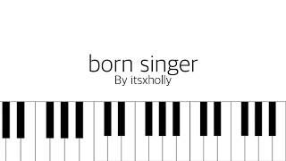 born singer // bts // piano tutorial