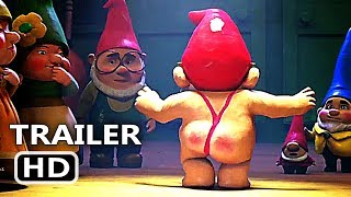 SHERLOCK GNOMES Official Trailer (2018) Johnny Depp Animation, Kids Movie HD
