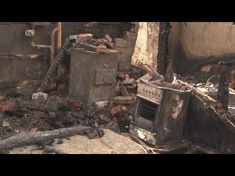 Сгорел шестиквартирный дом