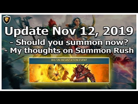 RAID Shadow Legends | Update Nov 12, 2019 | My thoughts on Summon Rush / Should you participate?