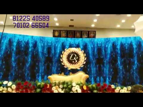 LED Digital Wedding Marriage Reception Decoration Chennai Pondicherry  Vilupuram +91 81225 40589 (WA)