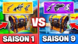 LES ARMES DE SAISON 1 VS SAISON 9 sur FORTNITE !!!