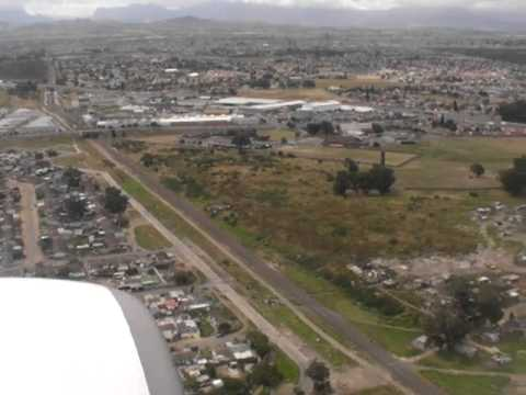 Landing in Cape Town airport, South Africa