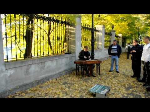 Hotel California on dulcimer  Park in Kiev, Ukraine