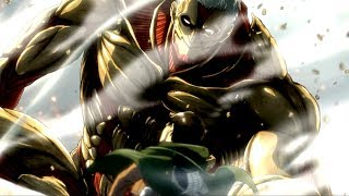 Armored titan and colossal titan revealed OST with Vogel Im Kafig ending and lightning sound 60fps