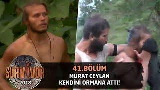 Murat Ceylan çılgına döndü! Kendini ormana attı... | 41. Bölüm | Survivor 2018