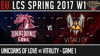 UOL vs VIT Highlights Game 1, EU LCS Spring 2017 Week 1 Day 2, Unicorns of Love vs Vitality G1