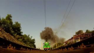 Praha Vršovice - Strašnice, průjezd parní lokomotivy Anton 486.007
