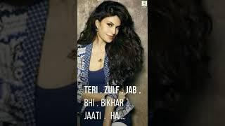 Teri Zuki Nazar | Teri Zulf Jab Bhi Bikhar Jaati Hai | Full Screen Status | Creative AP👇