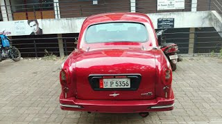 Modified Hindustan motors Ambassador in Red.