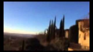 lever de soleil face au Ventoux à l'hôtel Crillon le Brave