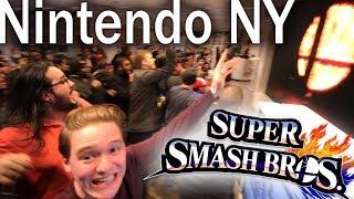 HUGE CROWD SMASH 5 REACTION @NINTENDO NY