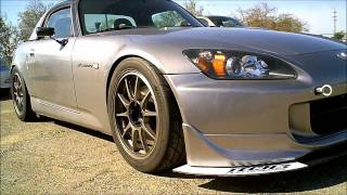 2005 Honda S2000 on Wedsport TC105N's,Tein SRC's,HKS Exhaust and front diffuser