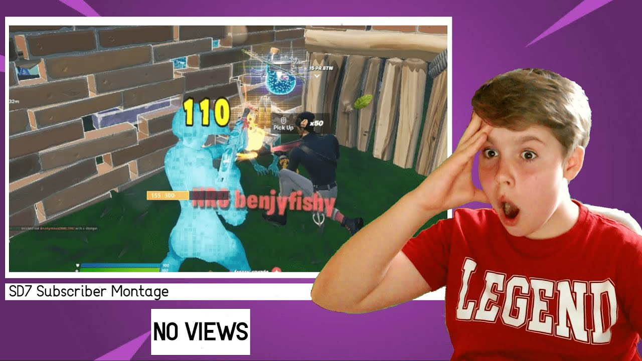 SD7GAME - Reacting To Subscribers Fortnite Montages (INSANE)