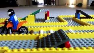 Lego Stop Motion - Motocross race