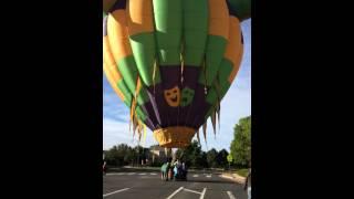 The Lady Jester (Joker) Hot air Balloon landing part 2