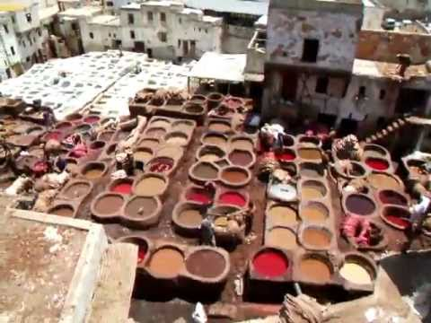 The Chouara Tannery is the largest in Fes, Morocco