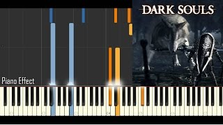 Dark Souls - Great Grey Wolf Sif (Piano Tutorial Synthesia)