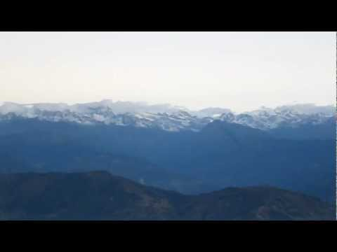 Sunrise Himalaya seen from Nagarkot Nepal HD