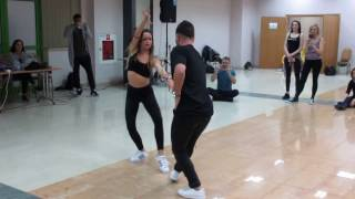 "Andrea+Luis Bachata New Combinations Bachaturo 2017 January 15th Warszawa  ""Hoja en blanco"""