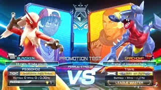 Pokken Tournament - Green League Master Travis | Garchomp vs Blaziken (60fps 1080p)