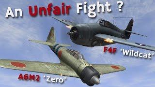 ⚜ | A6M2 'Zero' vs F4F 'Wildcat' - An Unfair Fight in the Pacific?