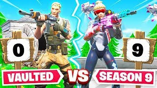 VAULTED Weapons vs SEASON 9 For LOOT (Fortnite)
