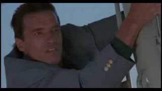 Arnold Schwarzenegger in Commando (1985) Plane jump