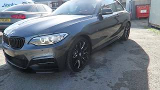Brand new BMW 240i Single Stage Machine Polish with ceramic coating