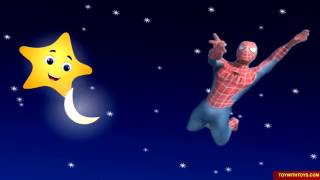 Twinkle Twinkle Little Star. Spiderman And Twinkle Twinkle Little Star