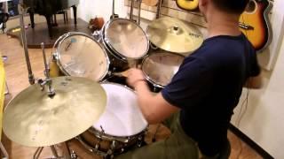 爵士鼓 練習(要戴耳機聽喔)