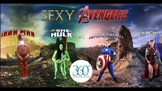 360 Body Painting: Sexy Avengers