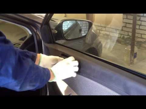 Как снять обшивку двери hyundai solaris (солярис)