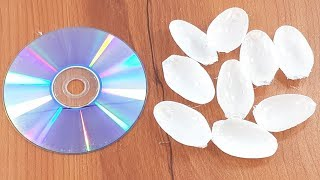 Amazing creative crafting out of Old cd disc & Plastic spoon   Diy Wall decorating idea
