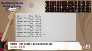 Vuelve - Juan Magan ft. Paulina Rubio, DCS Bass Backing Track with scale, chords and lyrics