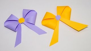 How to make a paper Bow/Ribbon   Easy origami Bow/Ribbons for beginners making   DIY beauty and easy