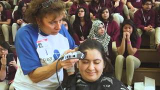 Morton High School Students Shave Heads to Raise Cancer Awareness width=