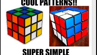 Rubik's Cube Patterns - Super Easy width=