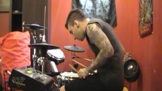travis barker ft. yelawolf - push em drum cover