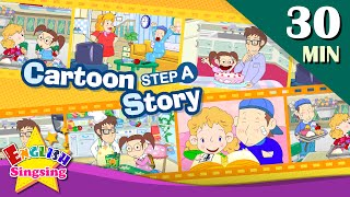 How old are you?+More Kids Cartoon story step A   Learn English   Collection of Easy conversation