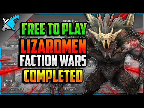 """F2P"" LIZARDMEN Faction Wars COMPLETED (5/13) | Guide & Champion Builds | RAID: Shadow Legends"