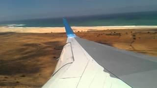 Thomson Airways Landing Boa Vista, Cape Verde