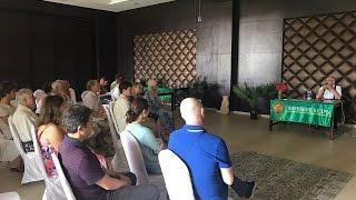 Выступление Владимира Мегре на конференции в Индии, Гоа